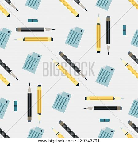 office supplies seamless colored background vector illustration abstract high quality