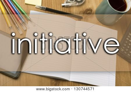 Initiative - Business Concept With Text