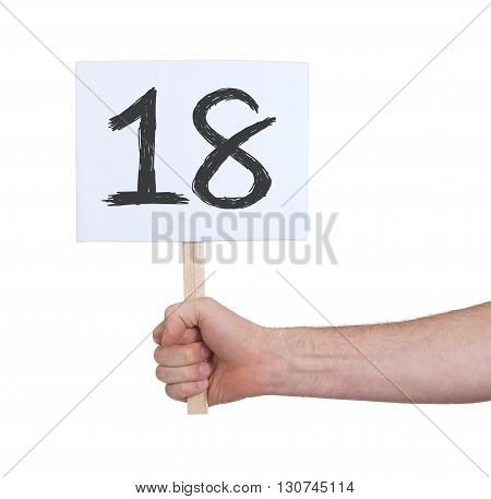 Sign With A Number, 18