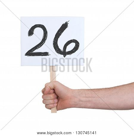 Sign With A Number, 26