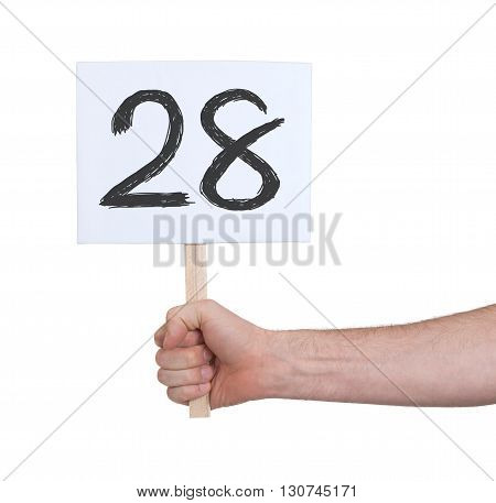 Sign With A Number, 28