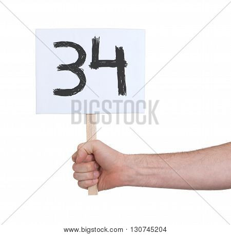 Sign With A Number, 34