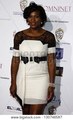 Serena Williams at the Hollywood Celebrates 60th Anniversary of Israel held at the Paramount Studios in Hollywood, USA on September 18, 2008.