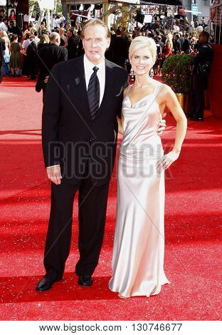 Lee Majors and Faith Majors at the 60th Primetime Emmy Awards held at the Nokia Theater in Los Angeles, USA on September 21, 2008.
