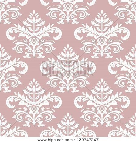 Oriental vector classic pattern. Seamless abstract background with repeating elements. Purple and white orient pattern
