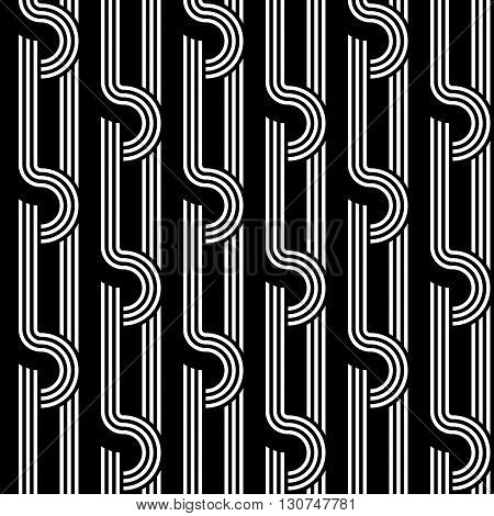 Design Seamless Monochrome Interlaced Pattern