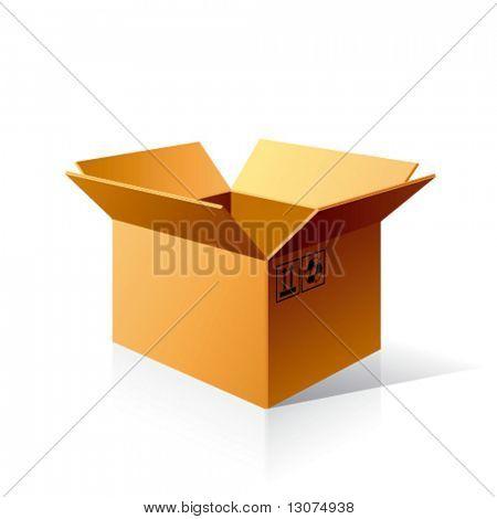 Vector open box