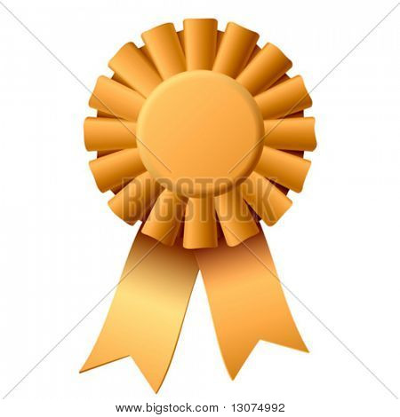 Vector award ribbon