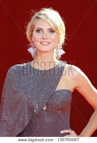 Heidi Klum at the 60th Primetime Emmy Awards held at the Nokia Theater in Los Angeles, USA on September 21, 2008.
