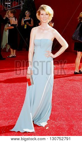 Cynthia Nixon at the 60th Primetime Emmy Awards held at the Nokia Theater in Los Angeles, USA on September 21, 2008.