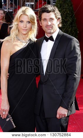 Jillian Dempsey and Patrick Dempsey at the 60th Primetime Emmy Awards held at the Nokia Theater in Los Angeles, USA on September 21, 2008.