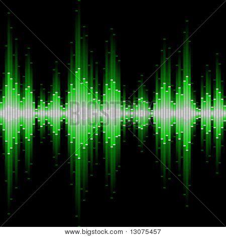 Sound waveform. Seamless vector.