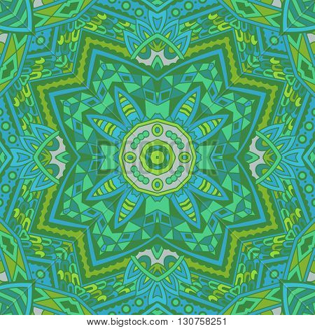 Green Geometric abstract seamless pattern. graphical background vector