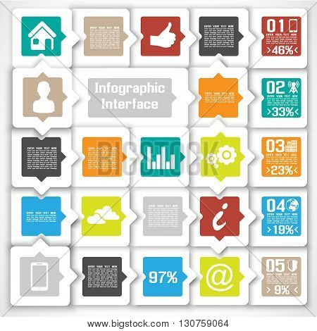 VECTOR MODERN BUSINESS SQUARE BACKGROUND ILLUSTRATION INFOGRAPHIC NEW STYLE