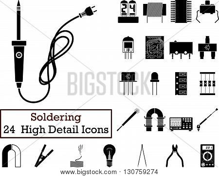 Set Of 24 Soldering Icons