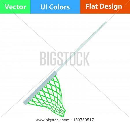 Flat Design Icon Of Fishing Net