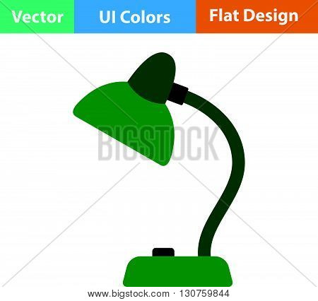 Flat Design Icon Of Lamp