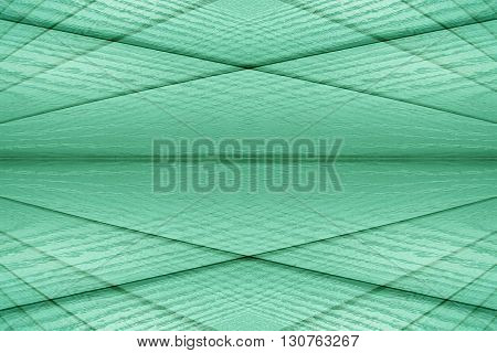 Abstract modern background of the wooden planks. Abstract minimalistic pattern intersecting strips. Mint color background.