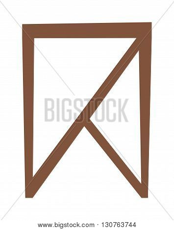 Wooden chair isolated on white background and chair isolated vector. Chair isolated furniture design and wooden chair isolated. Chair isolated comfortable decor interior elegance armchair.