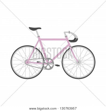 Bicycle in flat style. Sport bicycle isolated on white background. Vector illustration.