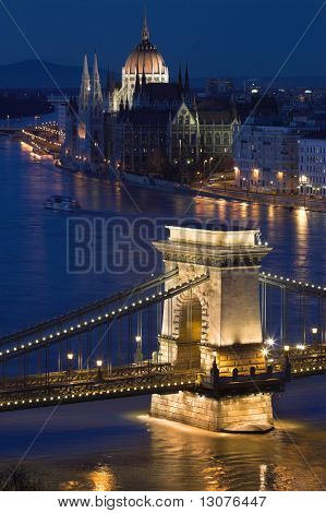 Budapest, the capital of Hungary is one of the nicest cities. It lies on both sides of the river Danube. The old Chain Bridge and the Parliament are famous landmarks of the city.