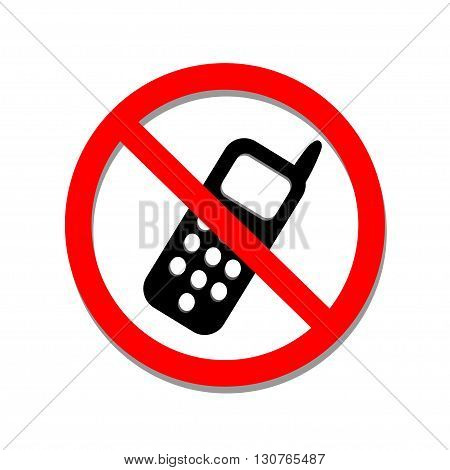 No phone sign on a white background