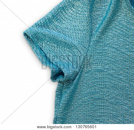 Blue Glitter T-shirt With Clipping Path