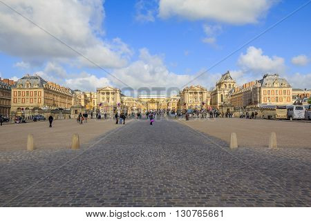 Versailles, France - May 12: This is the royal palace at Versailles May 12, 2013 in Versailles, France.