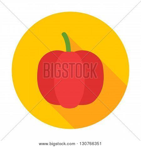 Pepper Flat Circle Icon