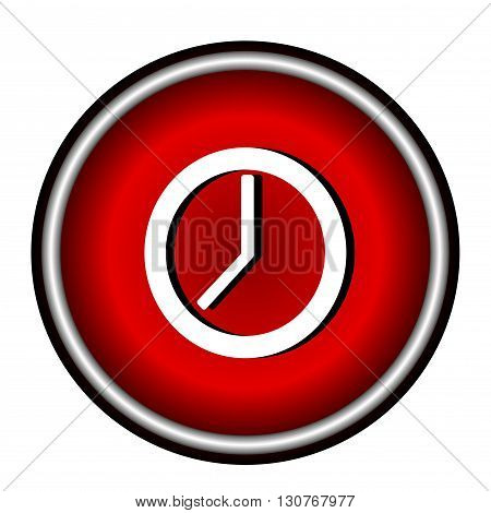 Clock flat internet icon on white background