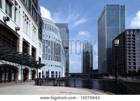 Moderne architectuur en office gebouwen.