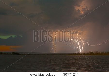 spring thunder and lightning on the lakes