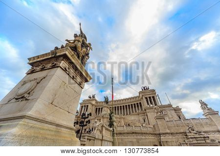 ROME - January 6: Streets of Rome ancient Rome 6 2016 in Rome Italy.