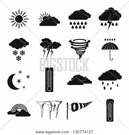 Weather set icons in simple style for any design