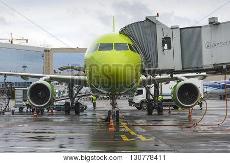 Airbus A319 S7 Airlines Preflight Preparation