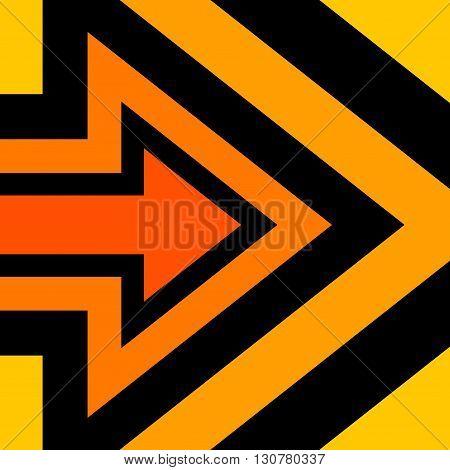 Right Arrow Background Orange