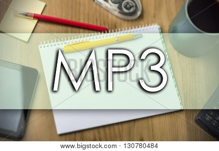 Mp3 -  Business Concept With Text
