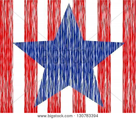 USA patriotic design map, star and striped flag