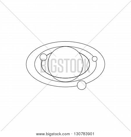 Solar system icon in isometric 3d style on a white background