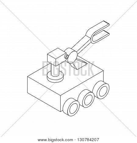Mars exploration rover icon in isometric 3d style on a white background