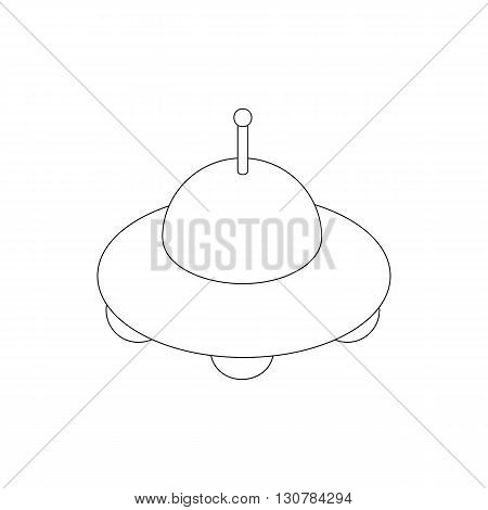 Ufo spaceship icon in isometric 3d style on a white background