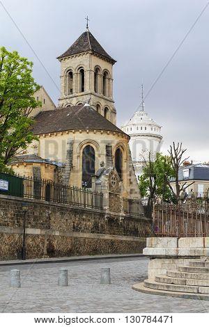 Paris, France - May 13: It is the church of Saint Pierre de Montmartre May 13 2013 in Paris France.