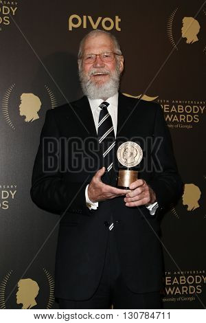 NEW YORK-MAY 21: David Letterman attends the 75th Annual Peabody Awards Ceremony at Cipriani Wall Street on May 21, 2016 in New York City.