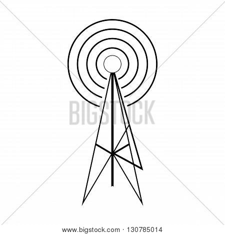 Wireless connection icon in isometric 3d style on a white background