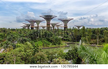 View over the Gardens by the Bay in Singapore