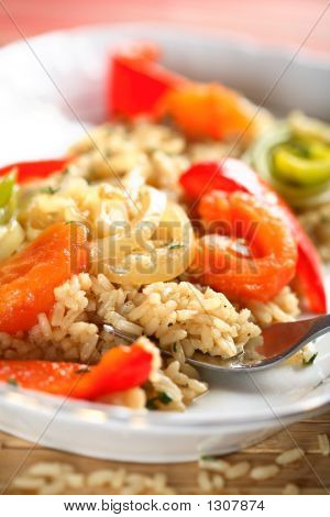 Rice And Tomatoes Dish
