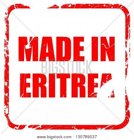 Made in eritrea, red rubber stamp with grunge edges