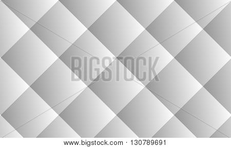 Gradient background diamonds. Low poly background. Light Gray color. Polygon background