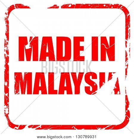 Made in malaysia, red rubber stamp with grunge edges