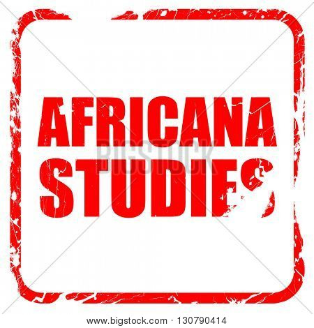 africana studies, red rubber stamp with grunge edges